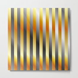 Illustration of a meta steel and gold Metal Print