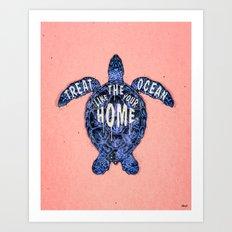 ocean omega (variant 3) Art Print