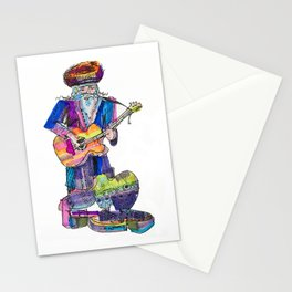 guitar playing chassid Stationery Cards