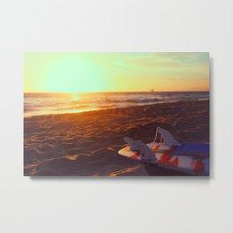 Surfin' Cali Metal Print