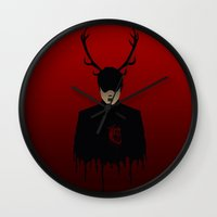 hannibal Wall Clocks featuring Hannibal by GinHans