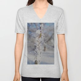 Snow crystal Unisex V-Neck