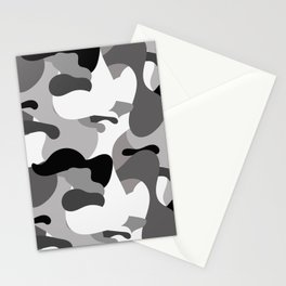 Camo-licious Collection: Dirty Martini Gray Camo Pattern Stationery Cards