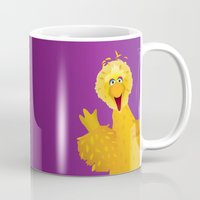 muppets Mugs featuring Big Bird - Muppets Collection by Bryan Vogel