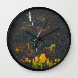 Fall Falling Wall Clock