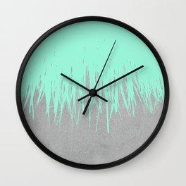 Fringe Concrete Mint Wall Clock