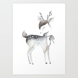 Whimsical fawn Art Print