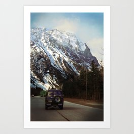 FOREST & MOUNTAINS IN THE KOOTENAYS Art Print