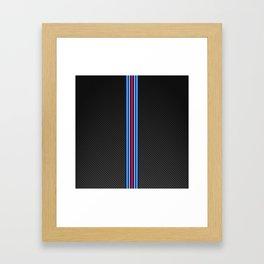 Carbon Racing Stripes Framed Art Print