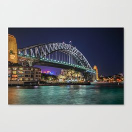 Sydney Harbor Bridge at Night Canvas Print
