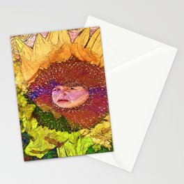Hush Litlle Baby Sunflower Stationery Cards