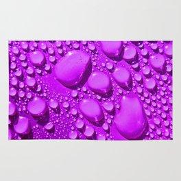 Water Drops Purple Rug