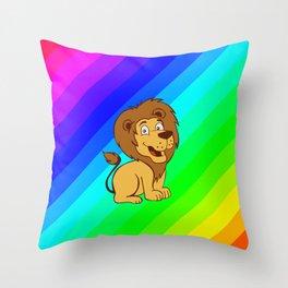 baby toon lion Throw Pillow