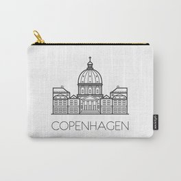 Marble Church Copenhagen Denmark Black and White Carry-All Pouch