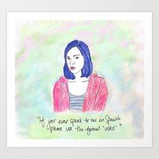 April Ludgate 2 Art Print