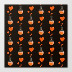 Love Chemistry Flask of Hearts Pattern Canvas Print