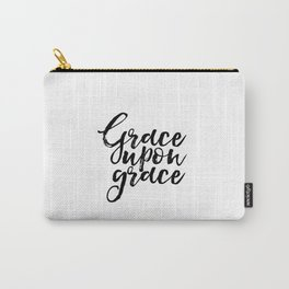 Bible Verse Art Bible Verse Prints Nursery Art Grace Upon Grace Bible Cover Nursery Wall Art Baby Carry-All Pouch