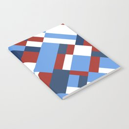 Map 45 Red White and Blue Notebook