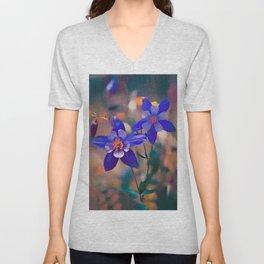 Columbine, or Aquilegia = Colorado State Flower Unisex V-Neck