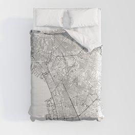 Manila White Map Comforters