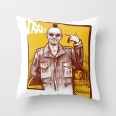 Taxi! Throw Pillow