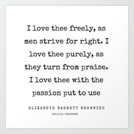 42    | 200210 | Elizabeth Barrett Browning Quotes Art Print