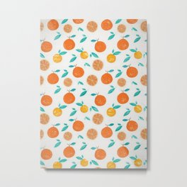 Oranges Pattern1 Metal Print