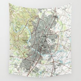 Austin map 1985  Wall Tapestry