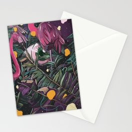 Midnight in jungle Stationery Cards