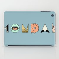 garfield iPad Cases featuring MONDAY by Wesley Bird