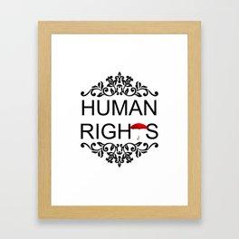 Human Rights Framed Art Print