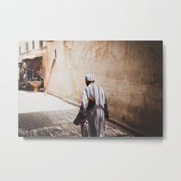 Old man in Medina Metal Print