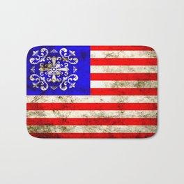 An American flag Bath Mat