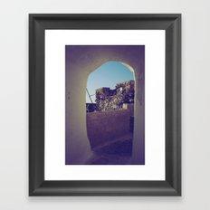 Santorini Walkway IV Framed Art Print