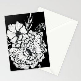 Black Flutter Stationery Cards
