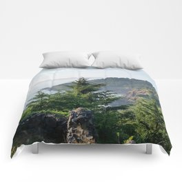 Cape Foulweather Vantage Point Comforters
