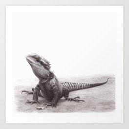 Spike the Waterdragon Art Print