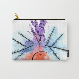 Lavender/Blue Spruce/Blood Orange Carry-All Pouch