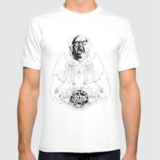 Two Horses, Tim and Eric (B&W) Mens Fitted Tee White MEDIUM