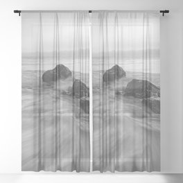OCEAN WAVES XIII Sheer Curtain