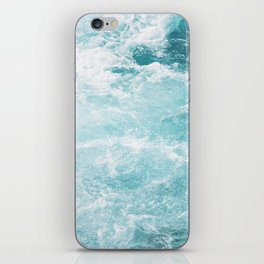 Turquoise and whitewater iPhone Skin