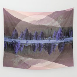 Mountain Mirror Wall Tapestry