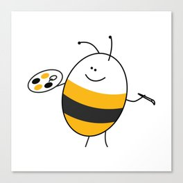 Bee the Painter Canvas Print