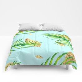 Golden Palms Comforters