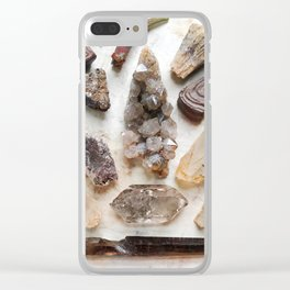 Golden Crystal Sunrise Clear iPhone Case