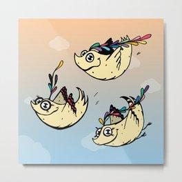 3 Bird Metal Print