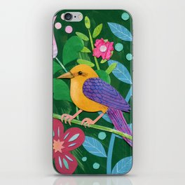 Tropical bird iPhone Skin