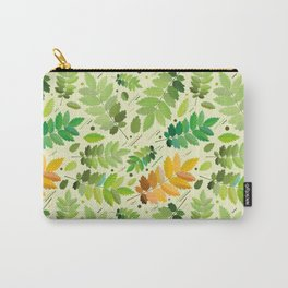 abstract, acorn, background, branch, color, cover, crocket, foiling, foliage, green, greens, impress Carry-All Pouch