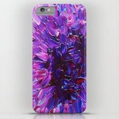 LOTUS BLOSSUM - Beautiful Purple Floral Abstract, Modern Decor in Eggplant Plum Lavender Lilac Slim Case iPhone 6 Plus