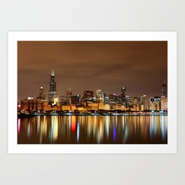 the Chicago Lakefront Art Print